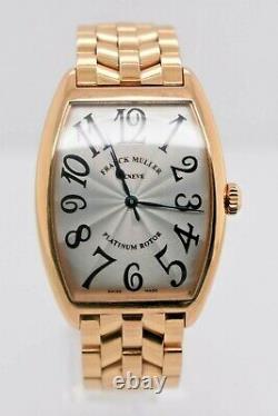 Franck Muller Curvex 2852 Sc Rose Gold Silver Dial 31 MM