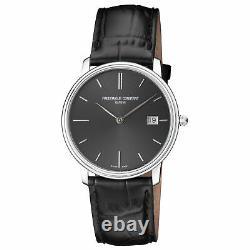 Frederique Constant Slimline Quartz Movement Black Dial Men's Watch FC-220NG4S6