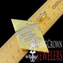 Future MillionaireFM Custom Pendant Real Yellow Gold Silver Simu Diamond Charm