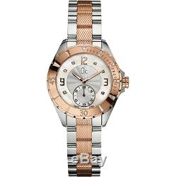 Gc Guess Collection 2, Two Tone Rose Gold, Silver+mop, Diamond, Swiss Watch A70102l1