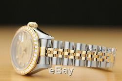 Genuine Ladies Rolex Datejust Factory Diamond Dial 18k Gold Diamond Bezel Watch
