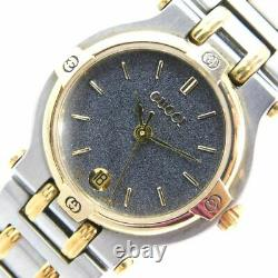 Gucci 9000l Gold Silver Gp/ss Date Ladies Vintage Swiss Made Watch