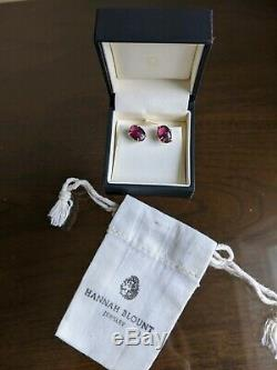 Hannah Blount Berry Tourmaline Earrings One-of-a-kind