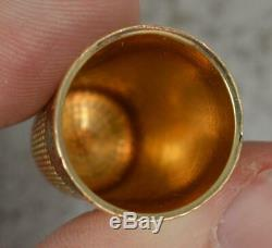 Heavy Antique 18 Carat Yellow Gold Thimble p1896