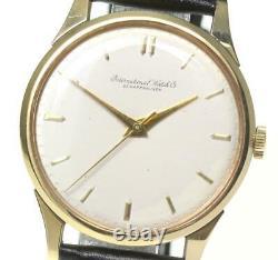 IWC SCHAFFHAUSEN Cal. 89 18K Yellow Gold Silver Dial Hand Winding Men's 570559