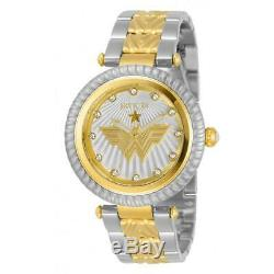 Invicta 33172 DC Comics Women's Wonder Woman Gold Silver Stainless Steel Watch