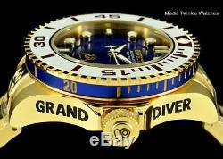 Invicta 47mm Grand Diver 2 Gen II Automatic BLUE Dial Blue Accent Bracelet Watch