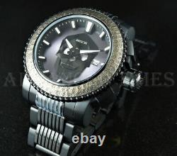 Invicta 50mm Sea Hunter SKULL Automatic ANTIQUE Hammered Bezel BLACK IP Watch