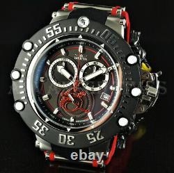 Invicta 52mm Subaqua Noma VII Dragon SWISS MOVT Chronograph Black Red Watch NEW