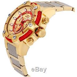 Invicta Marvel Quartz Movement Gold Dial Men's Watch 25781