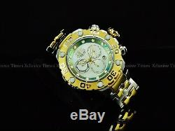 Invicta Men 54mm HIGH POLISHED Excursion MOP Ronda Z60 Chrono 2Tone SS Watch