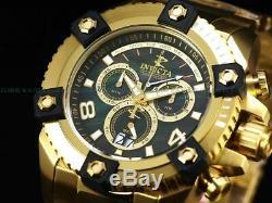 Invicta Men 63mm Grand OCTANE Arsenal Swiss Chrono Black MOP Dial 18KGP SS Watch