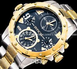 Invicta Men Coalition Forces Special Ops Black Gold Silver Multi Tone SS Watch