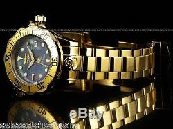 Invicta Men's 300M Grand Diver Automatic 18KGP MidNight Black MOP Dial SS Watch