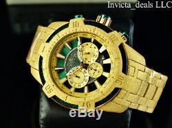 Invicta Men's 52mm Pro Diver Scuba Chronograph SANDBLASTED Gold Finish Watch