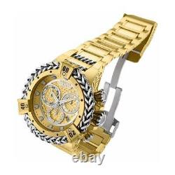 Invicta Men's Watch Reserve Hercules Chronograph Gold and Silver Tone Dial 30545