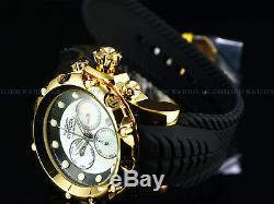 Invicta Mens 52mm VENOM Sea Dragon Swiss Chronograph White MOP 18K Gold IP Watch