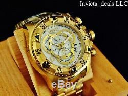 Invicta Reserve 52mm Excursion Touring Swiss ETA Chrono MOP Dial Gold Tone Watch