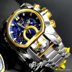 Invicta Reserve Bolt Zeus Magnum Swiss Two Tone Dual Dial Blue Steel Watch New