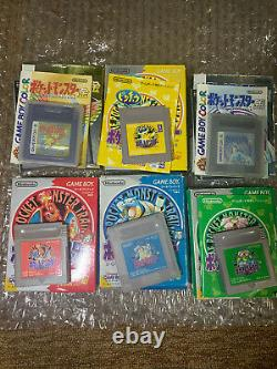 Japanese Pokemon Game Lot Red Blue Yellow Gold Silver