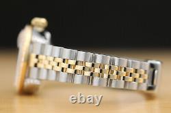 Ladies Rolex Champagne Diamond Dial, Bezel & Lugs Datejust 18k Gold Steel Watch