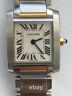 Lady Cartier Tank Francaise18K/SS Two-Tone Watch Excellent Condition W51007Q4