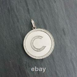 Men's Customized 2 Large Round Design Pendant in 14k Yellow Gold Plated Silver