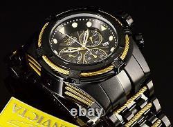 Men's Invicta 52MM Bolt ZEUS Swiss Chronograph COMBAT Black Gold Cables SS Watch