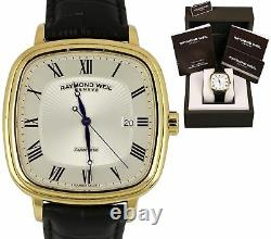 Men's Raymond Weil Maestro Automatic Gold Silver Black Date Watch 2867-PC-00659