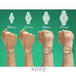 Men's Rolex 36mm Datejust 2 Tone Champagne Color String Diamond Accent Dial