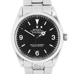 Men's Vintage Rolex Oyster Perpetual Explorer Precision 5500 Black 34mm Watch