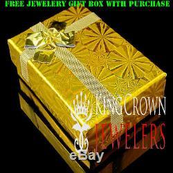 Mens 10K Yellow Gold Silver Simu Diamond Jesus Face Piece Pendant Charm + Chain
