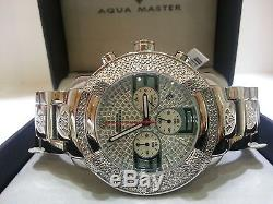 Mens Aqua Master Diamond Watch Silver Color W#96