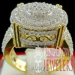 Mens Ladies 10K Yellow Gold Silver Simu Diamond Bridal Engagement Wedding Ring