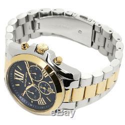 Michael Kors Bradshaw Gold Silver Navy Chrono Stainless Steel MK5976 Women Watch