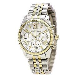 Michael Kors MK5955 Lexington Two Tone Chronograph Watch for Women