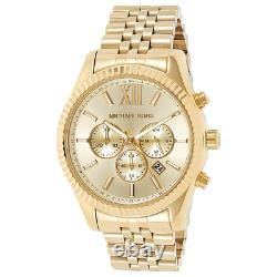 Michael Kors Men's Watch Mk8281 Lexington Gold Bnib 2y Warranty New Original