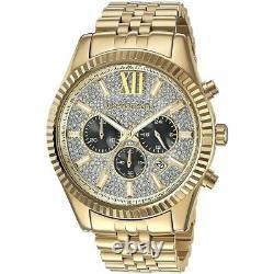 Michael Kors Mens Watch Mk8494 Lexington Gold Bnib 2y Warranty New Original