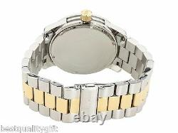 Michael Kors Runway 2, Two Tone S/steel Gold+silver, Black Dial+date Watch Mk7064