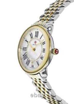 Michele $1395 Dazzling Diamonds Two-tone Gold/silver Swiss Watch Mww21b000015
