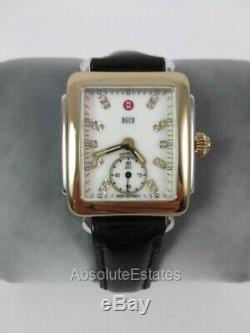Michele Deco 16 Mid Gold Silver Two Tone Diamond Watch MW06V00C9046 Refurb NIB