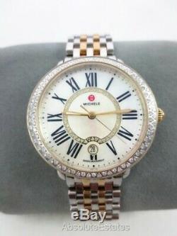 Michele Serein Mid 16 Two Tone Gold Silver Diamond Watch MW21B01C5963 Refurb