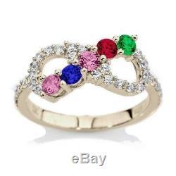 NANA Swarovski Zirconia Infinity Mothers Ring 1 to 6 Stones Sterling Silver/10k