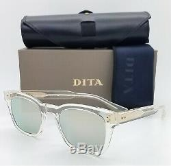 NEW DITA sunglasses Mann DTS102-49-04 Clear Yellow Gold Silver Mirror AUTHENTIC