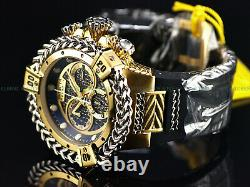 NEW Invicta 56mm Men Reserve Bolt Hercules Swiss Chrono 18K Gold Plated SS Watch