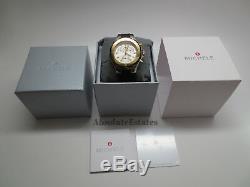 NEW Michele Jelly Bean Large Tahitian Black Gold & Silver Watch MWW12F000057 NIB