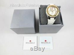 NEW Michele Tahitian Jelly Bean White Gold & Silver Two Tone Watch MWW12F000056