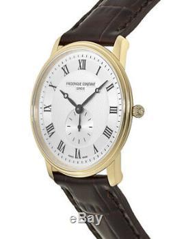 New Frederique Constant Slimline Silver Dial Gold Men's Watch FC-235M4S5
