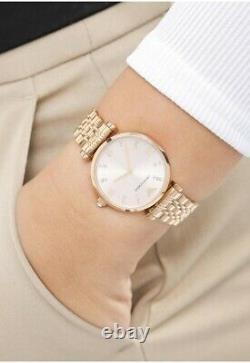 New Genuine Emporio Armani Ar11059 T-bar Blush Rose Gold Steel Ladies Watch