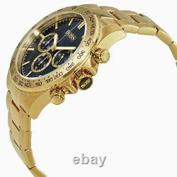 New Hugo Boss Hb1513340 Ikon Blue & Gold Genuine Men's Watch Chronograph